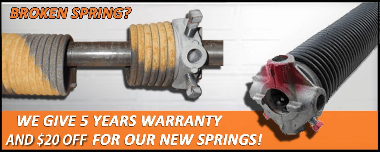 broken spring replacement los alamos nm garage doors